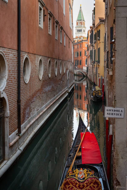 Venice, glimpses of canals in the city stock photo