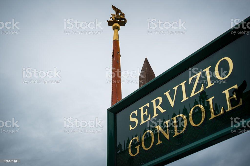 venice servizio gondole stock photo