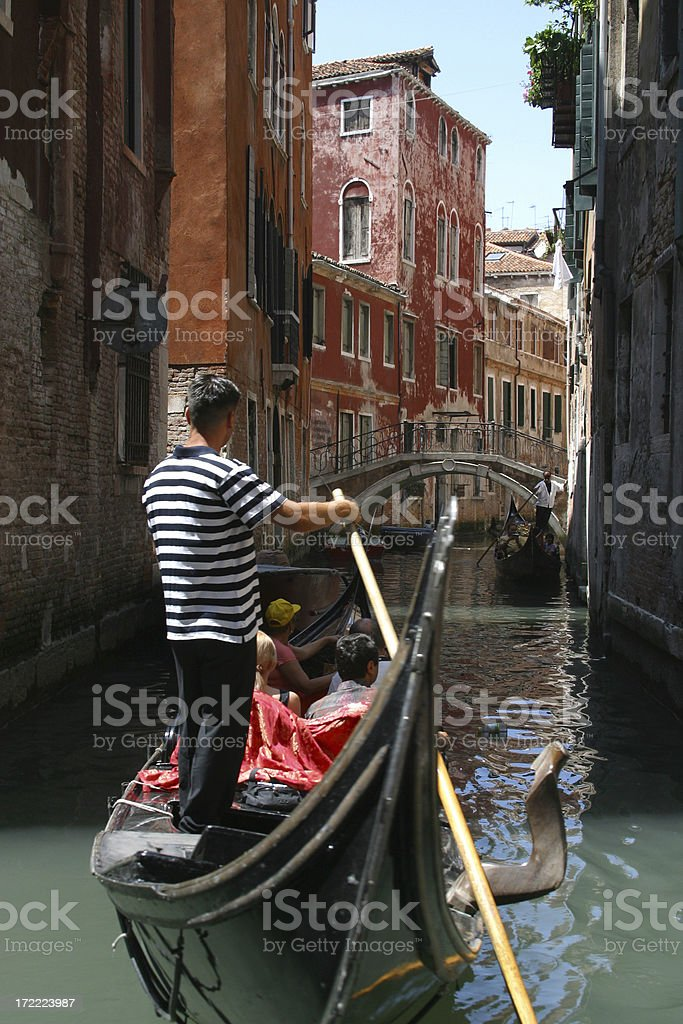 Venice gondolier royalty-free stock photo