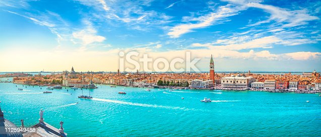 istock Venice Grand Canal aerial view. Italy 1125949488