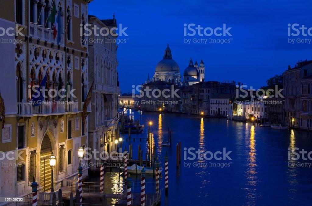 Venice. Grand Canal at Dusk. Italy. royalty-free stock photo