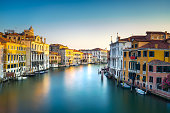 Venice grand canal or Canal Grande, view from Rialto bridge. Italy, Europe