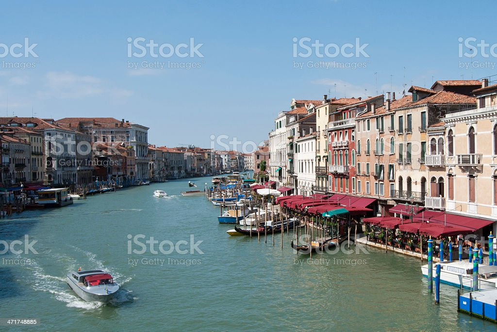 Venice Grand Canal view royalty-free stock photo