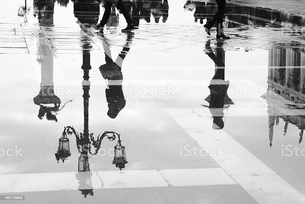 Venice in puddle royalty-free stock photo