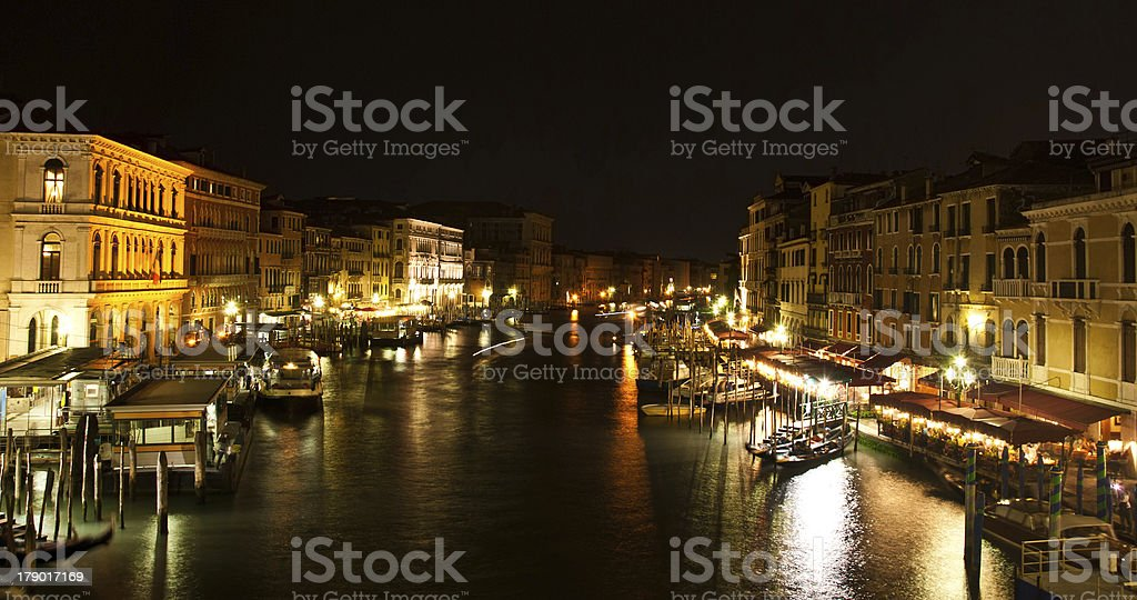 Venice in the night royalty-free stock photo
