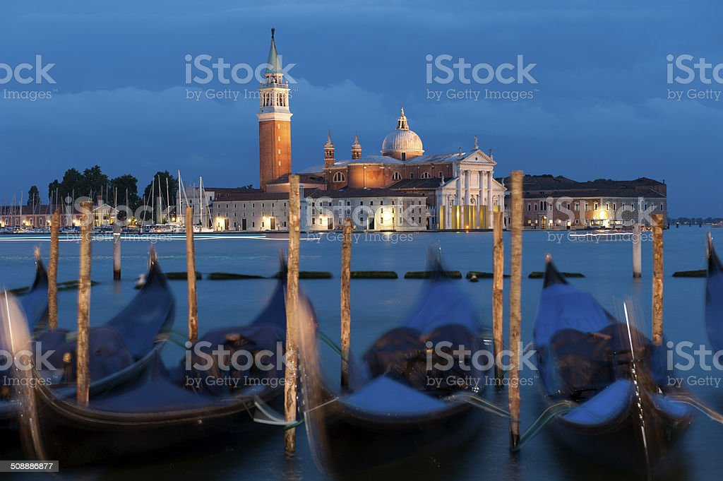Venice in the night stock photo