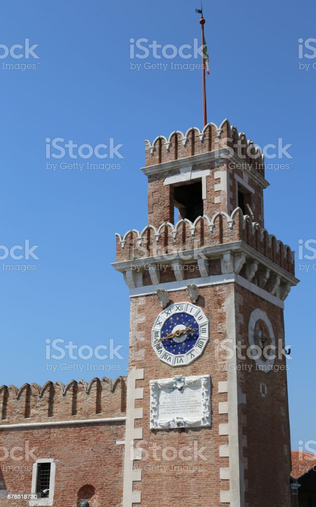 Veneza Itália antigo palácio chamado Arsenale - foto de acervo