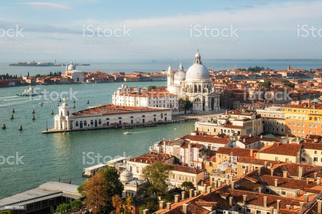 Venice Italy and Basilica Santa Maria della Salute - Zbiór zdjęć royalty-free (Architektura)