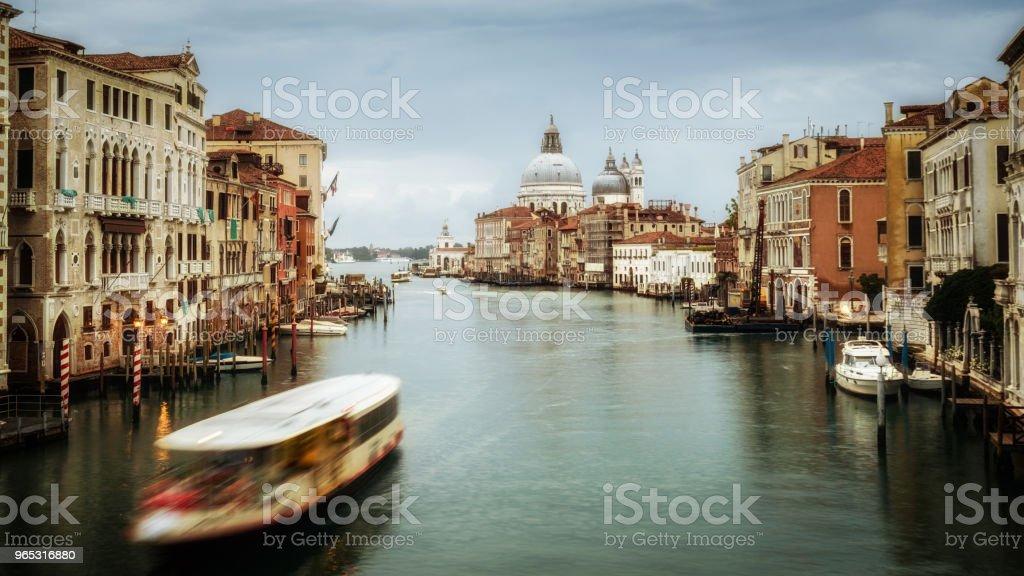 Venice Italy and Basilica Santa Maria della Salute zbiór zdjęć royalty-free