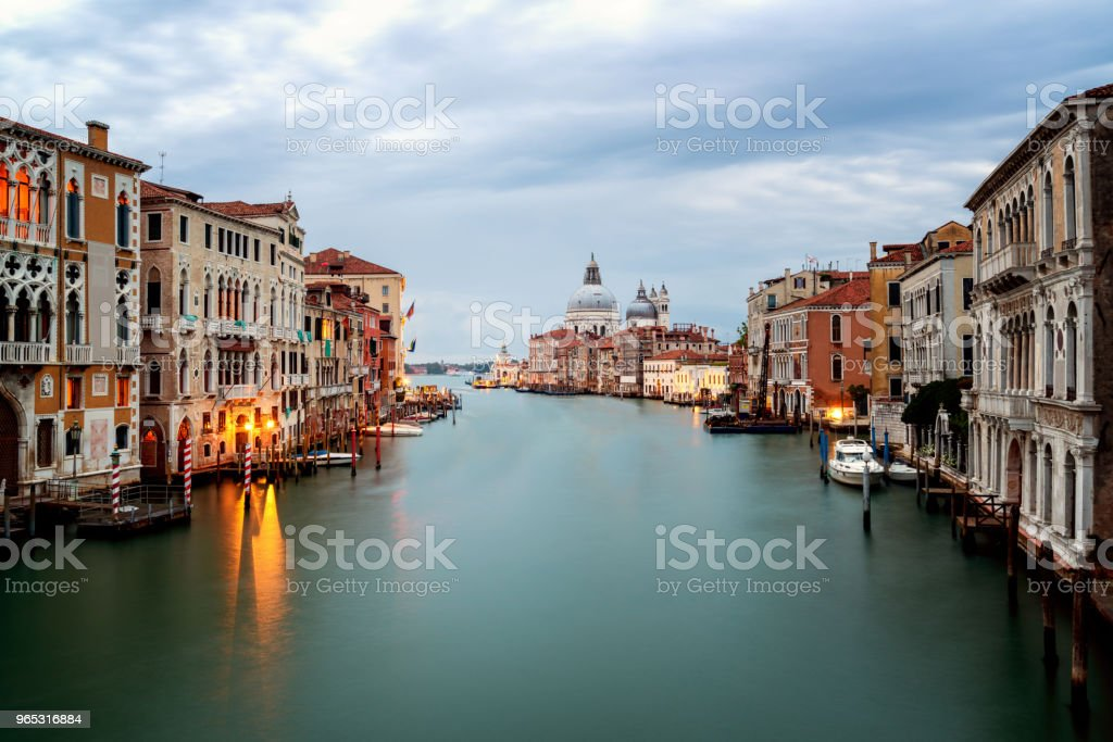 Venice Italy and Basilica Santa Maria della Salute royalty-free stock photo