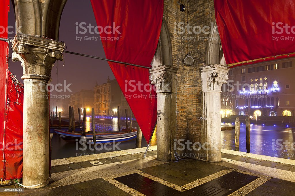 Venice, Italy at night royalty-free stock photo