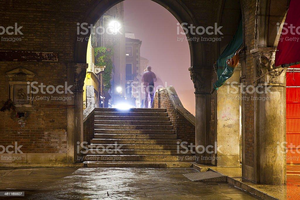 Venice, Italy at night royalty-free stock photo