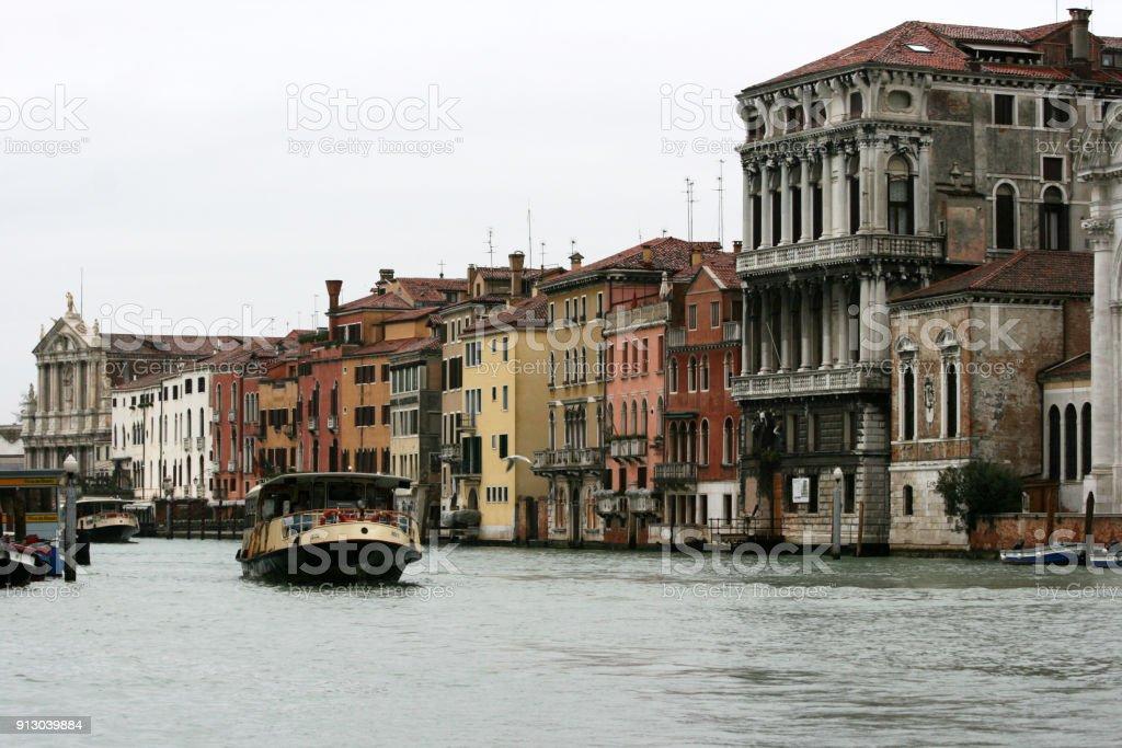 Venice - Italy - boat on Canal Grande stock photo