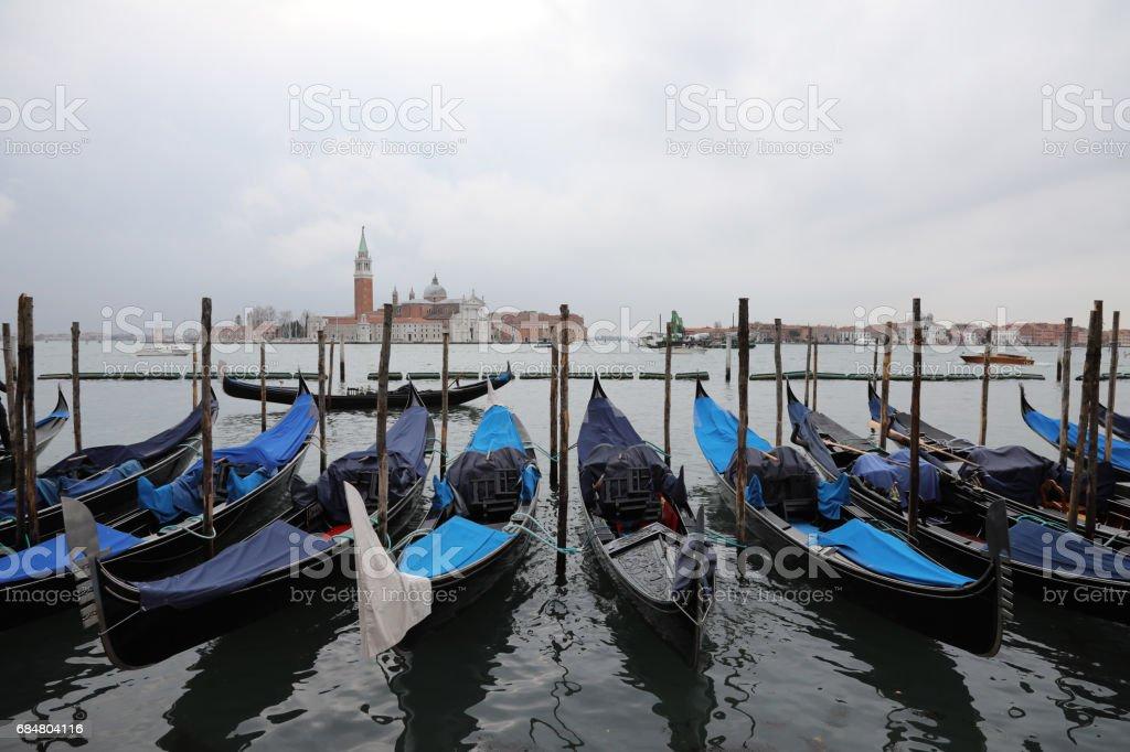 Venice Italy canal gandola stock photo