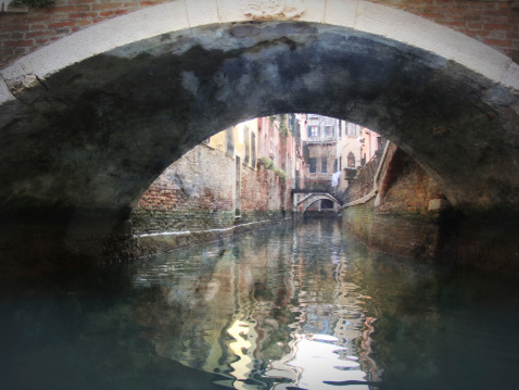 Venice, Italy, Grand Canal and historic. Grunge photo
