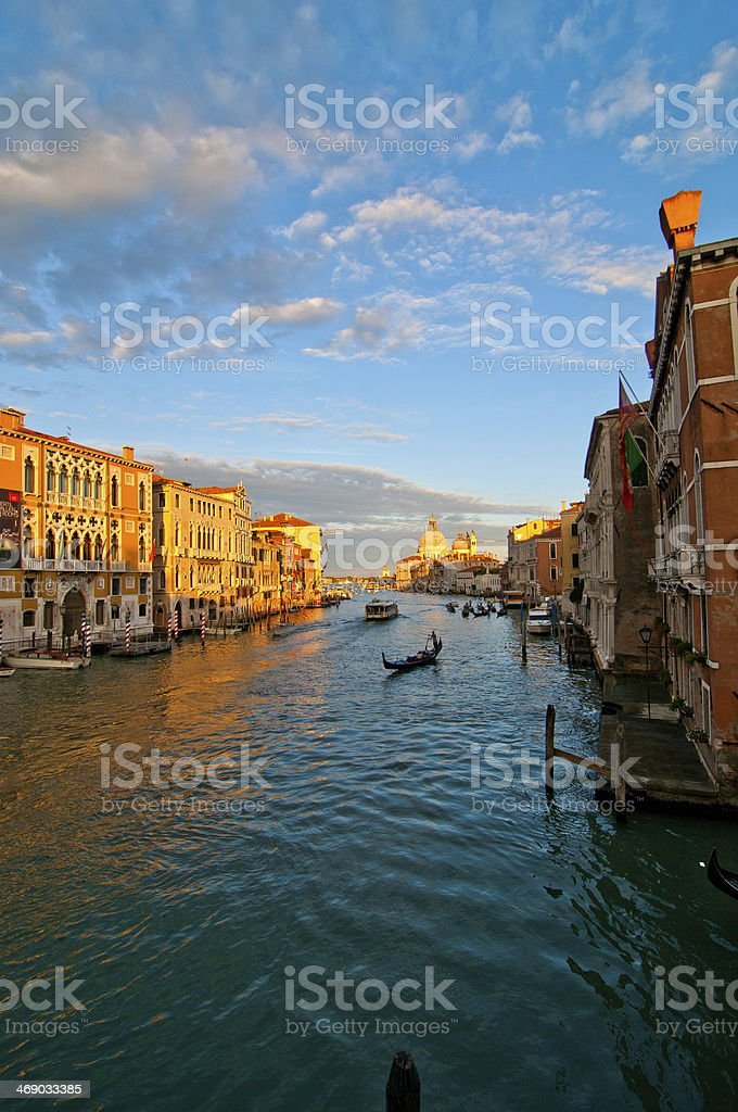 Venice Italy grand canal view stock photo