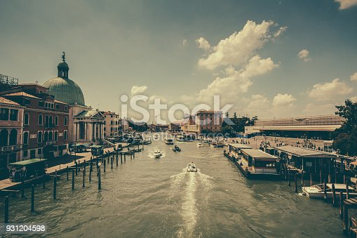 Venice. Italy. View of canal.