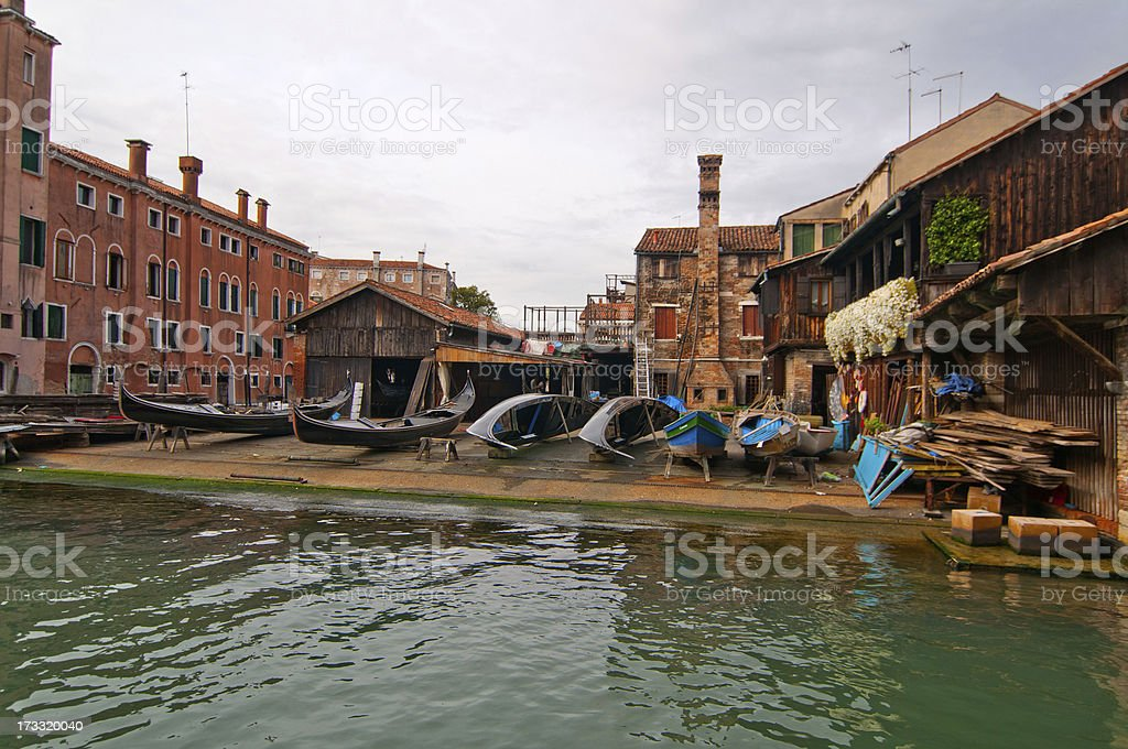Venice Italy San Trovaso squero view royalty-free stock photo