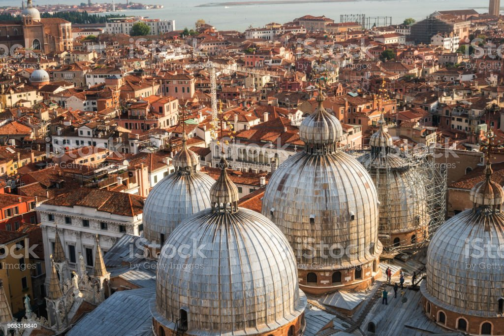 Venice Italy Skyline from St. Mark's Square zbiór zdjęć royalty-free