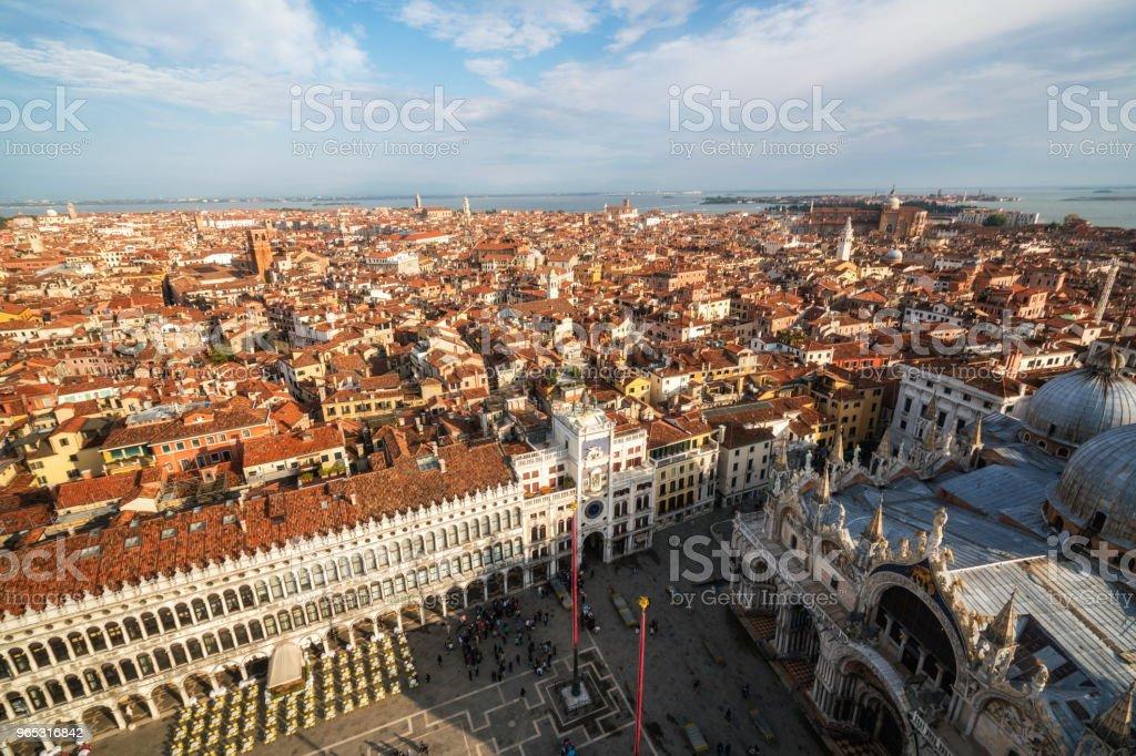 Venice Italy Skyline from St. Mark's Square royalty-free stock photo