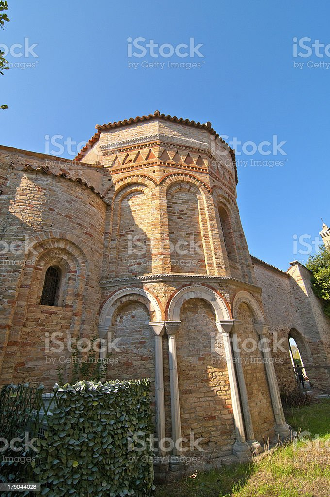 Venice Italy Torcello Cathedral of Santa Maria Assunta stock photo