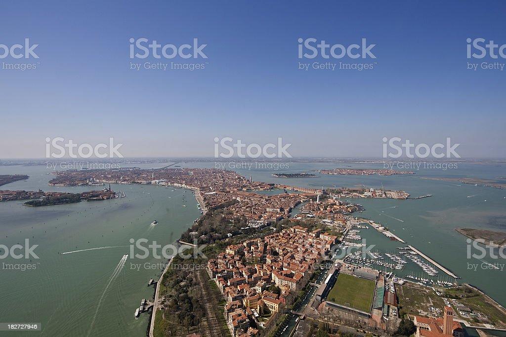 Venice lagoon aerial view, Italy royalty-free stock photo