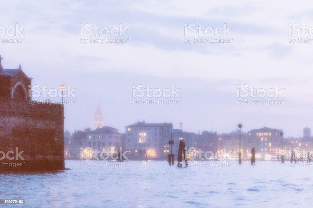 Venice Lagoon Dusk stock photo
