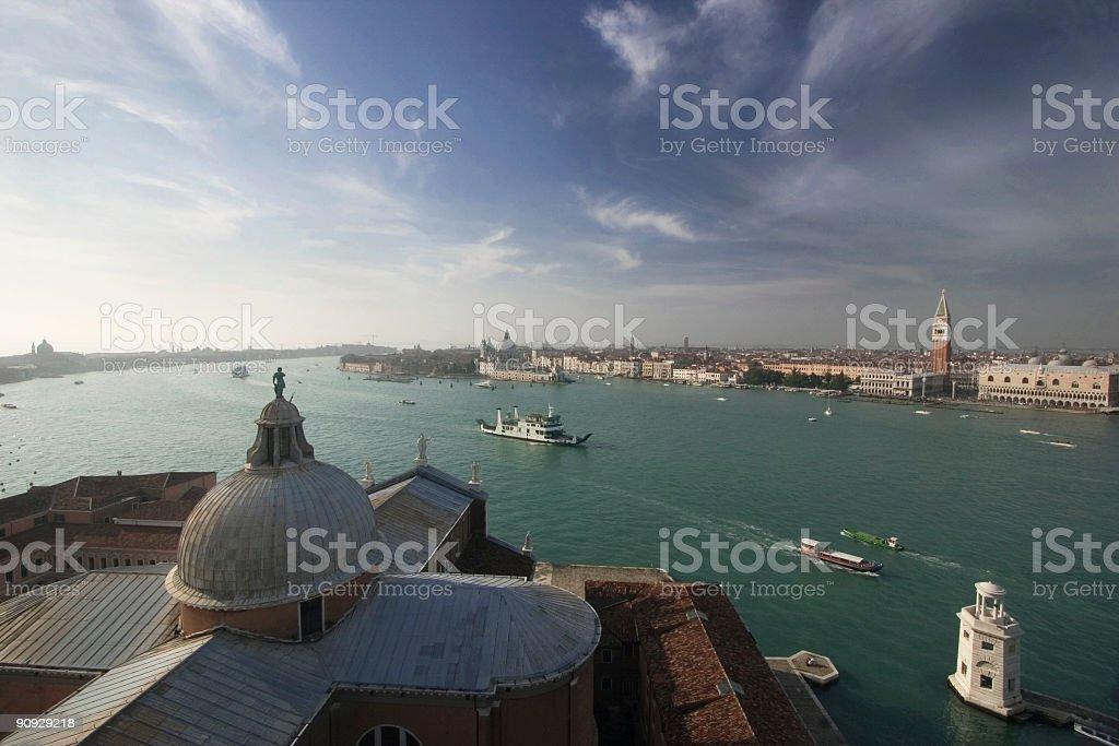 Venice Lagoon from San Giorgio royalty-free stock photo