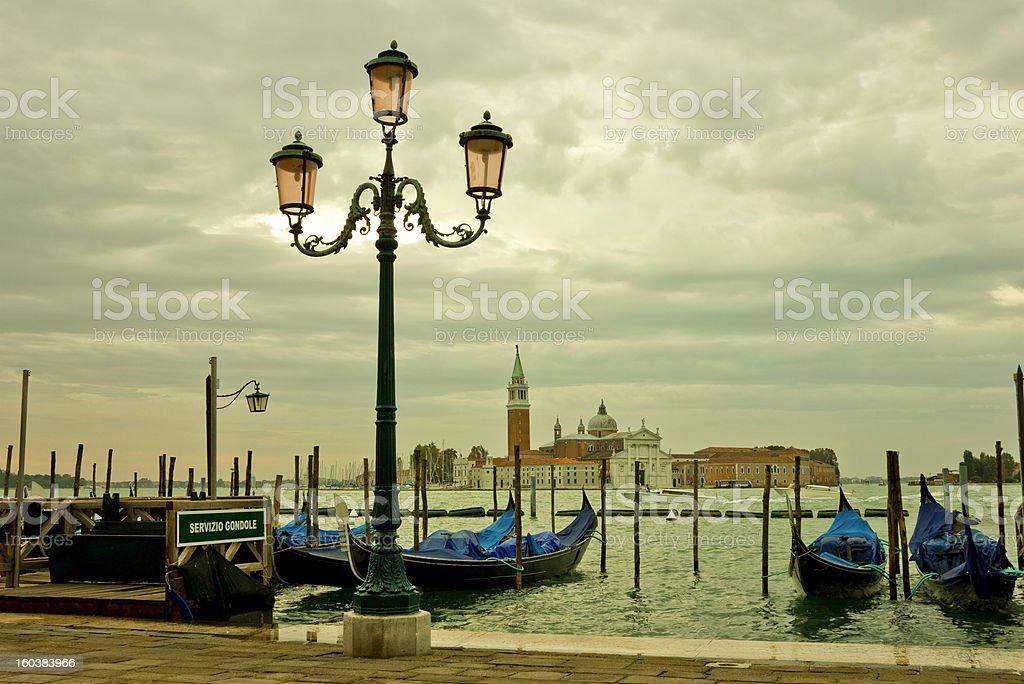 Venice Lagoon in a Moody Sunrise royalty-free stock photo
