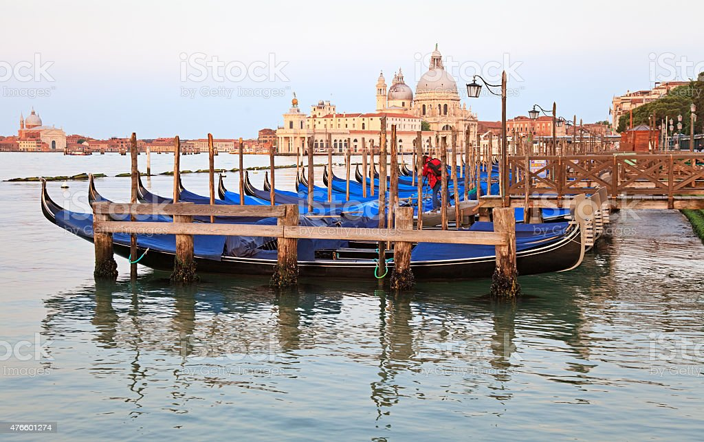 Venice lagoon morning view, Venice, Italy stock photo