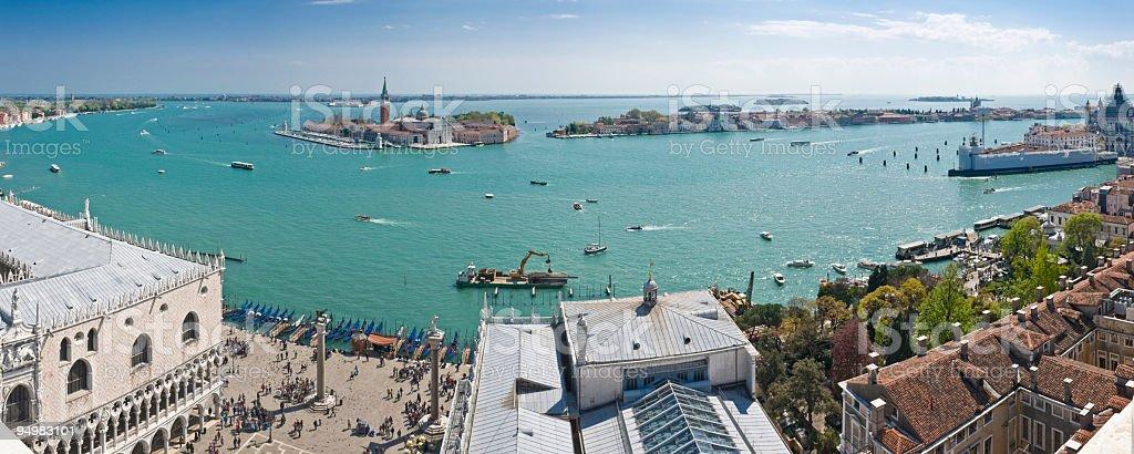 Venice Lagoon panorama stock photo