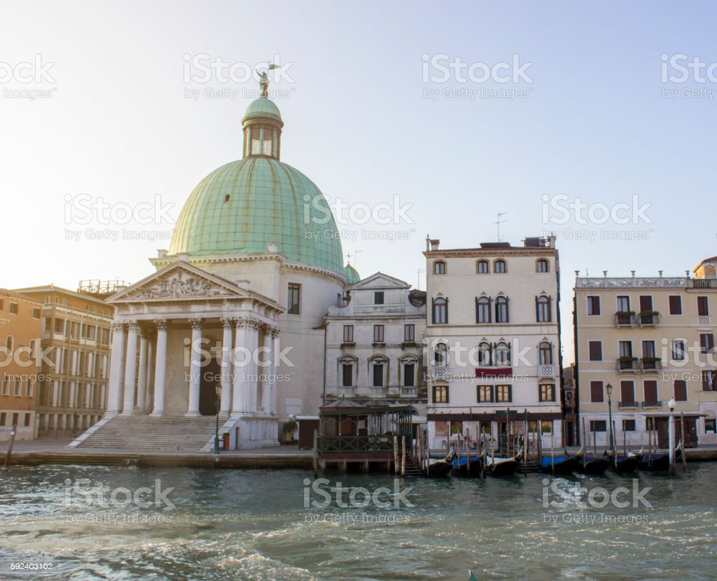 Venice landscape in day time stock photo