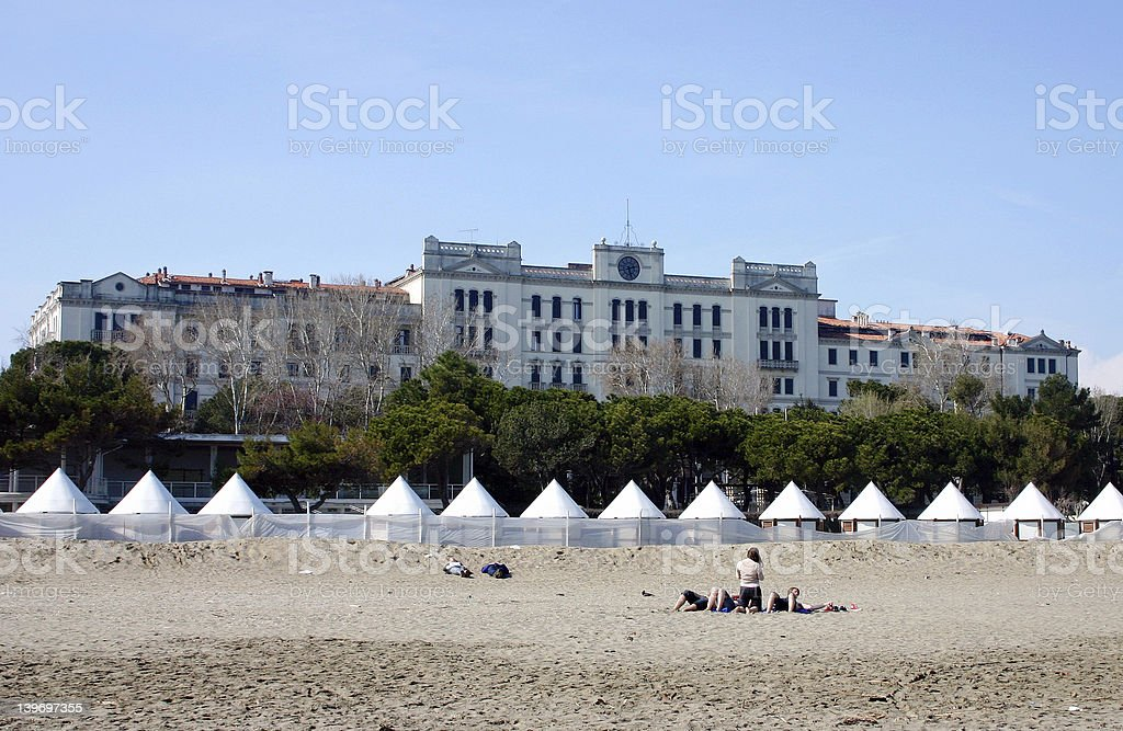 Venice, Lido (Hotel) royalty-free stock photo