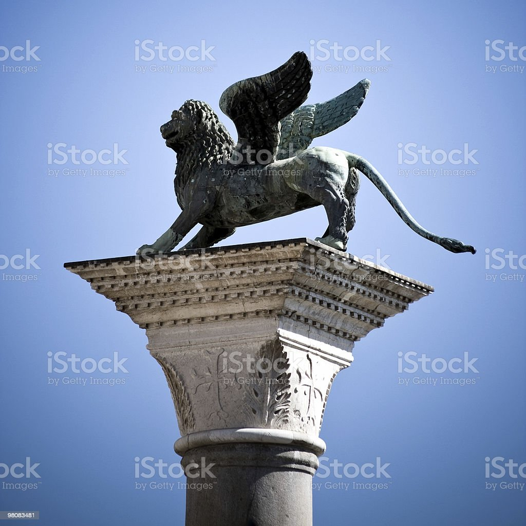 Venice Lion stock photo