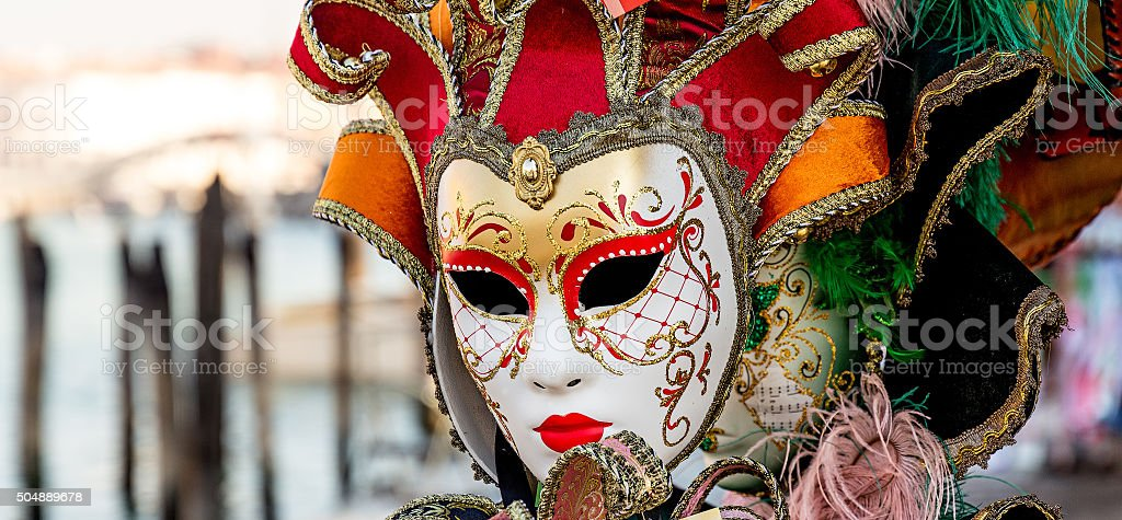 Venice mask isolated during Venice Carnival stock photo