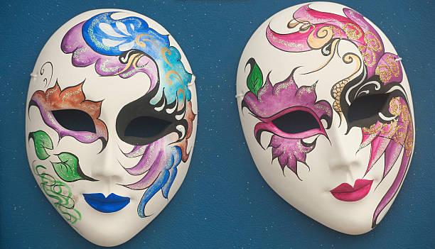 masken in venedig - rosa camo party stock-fotos und bilder