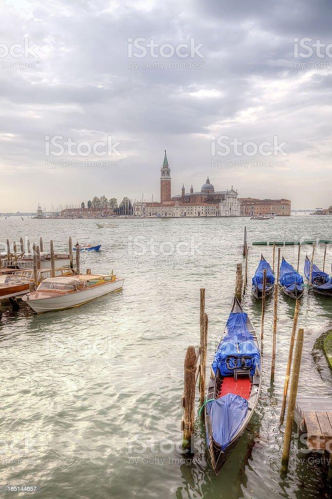 Venice morning. Island of San Giorgio Maggiore royalty-free stock photo