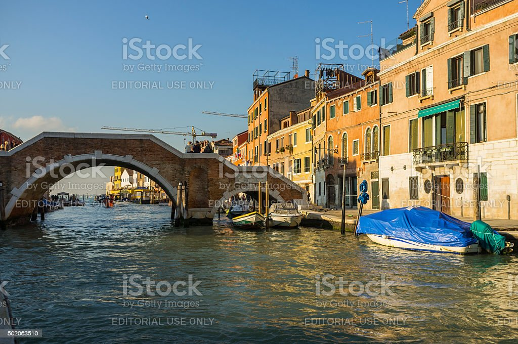 Venice. Morning on the Cannaregio Canal stock photo