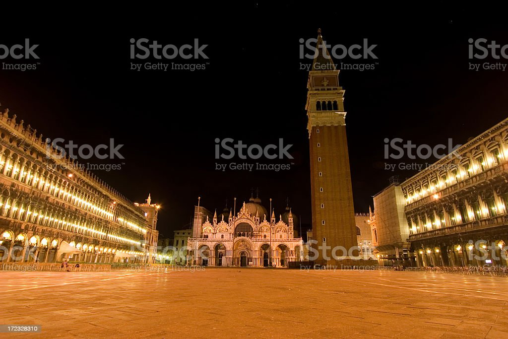 venice nightscape royalty-free stock photo