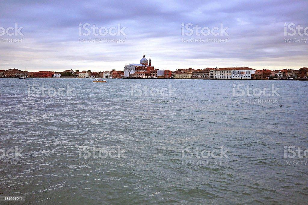 Venice on sunset royalty-free stock photo