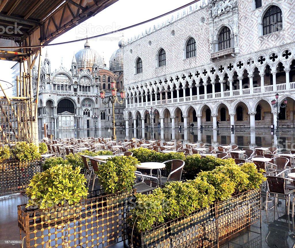 Venice, Outdoor Cafe stock photo