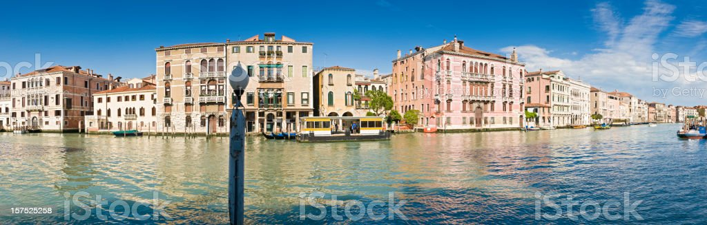 Venice palazzo panorama Grand Canal reflections blue summer water Italy royalty-free stock photo