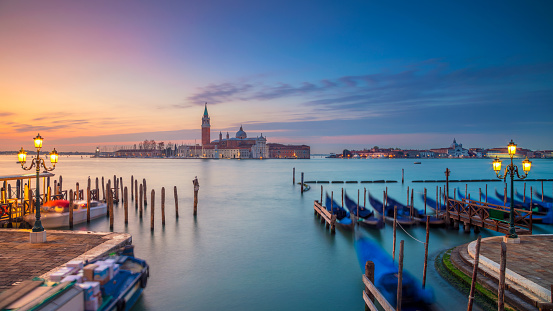 Venice panorama in the morning.