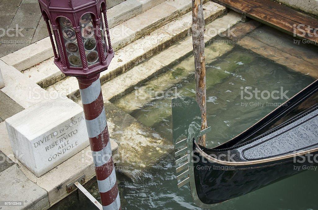 Venice parking royalty-free stock photo