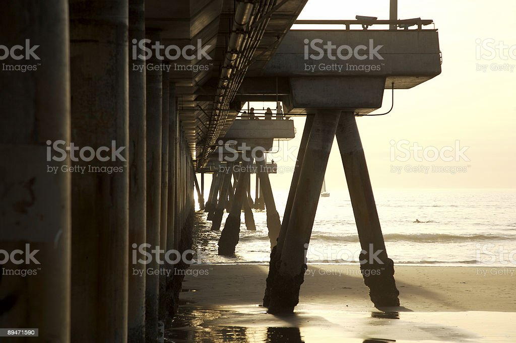 Venice pier at sunset royalty-free stock photo