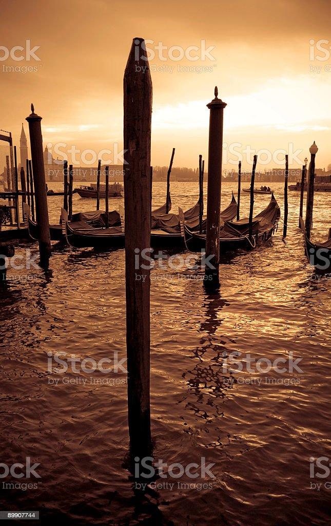 venice poles royalty-free stock photo