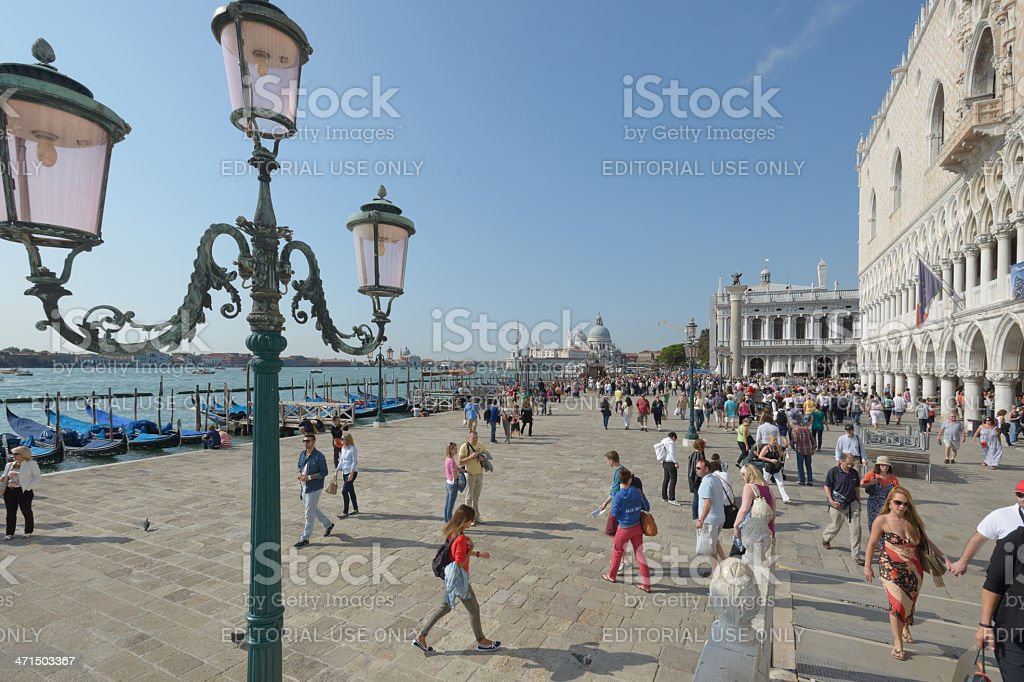 Venice promenade royalty-free stock photo