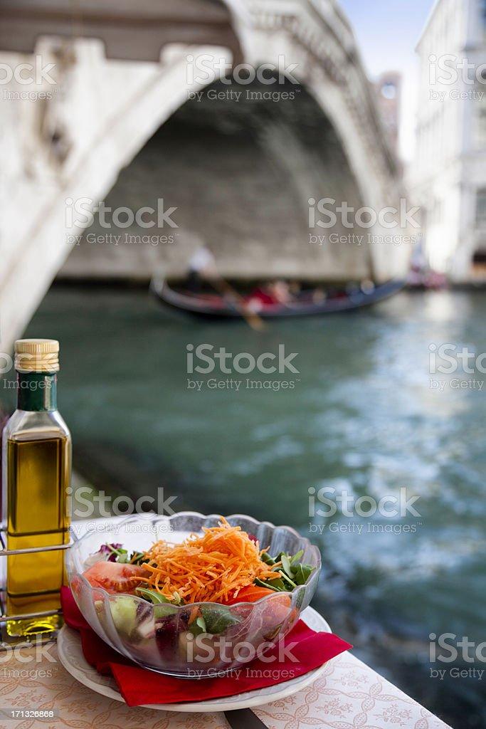Venice: Rialto Bridge and Grand Canal royalty-free stock photo