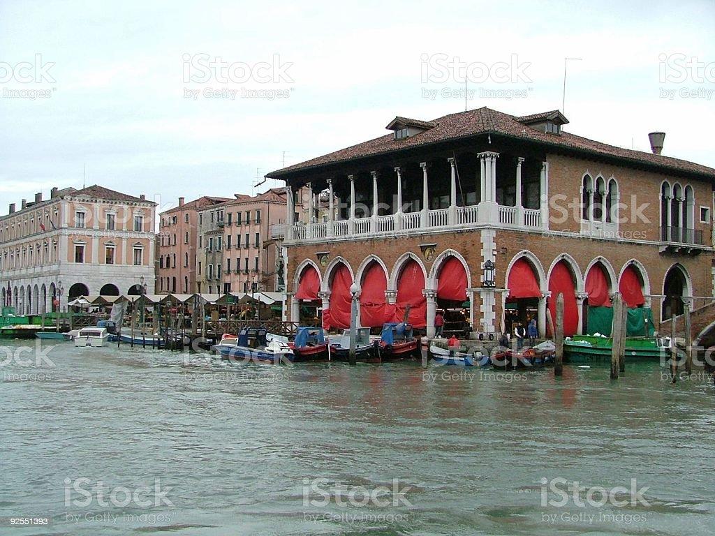 Venice Rialto Market stock photo