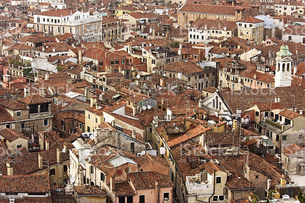 Venice roofs royalty-free stock photo